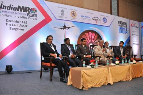 India MRO Conference in December 2015 at Bangalore – Dr C G Krishnadas Nair and CEO, AASSC as part of Panel Discussion on Skill Development.