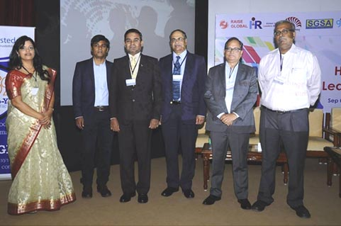 At HR Thought Leader Summit 2015 in IIM, Bangalore. CEO delivered the key note address.